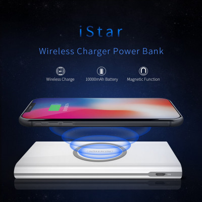 NILLKIN iStar Wireless Charger Power Bank 10000mAh Wireless charger
