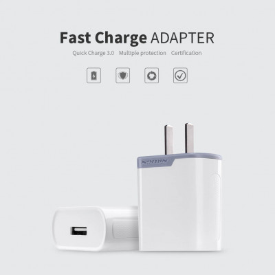 NILLKIN Fast Charge Adapter with Quick Charge 3.0 support (Chinese Plug) Wireless charger