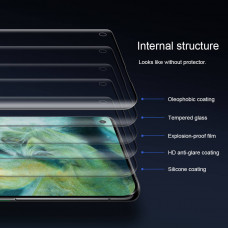 NILLKIN Amazing 3D CP+ Max fullscreen tempered glass screen protector for Oppo Find X2, Oppo Find X2 Pro