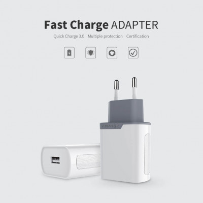 NILLKIN Fast Charge Adapter with Quick Charge 3.0 support (Euro Plug) Wireless charger