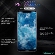 NILLKIN Matte Scratch-resistant screen protector film for Nokia 8.1 (Nokia X7)
