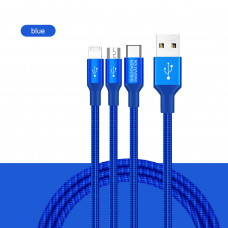 NILLKIN Swift 3-in-1 (MicroUSB + Type-C + Lightning port) Data cable