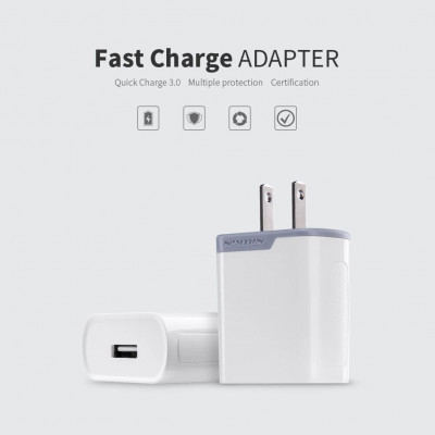 NILLKIN Fast Charge Adapter with Quick Charge 3.0 support (US Plug) Wireless charger