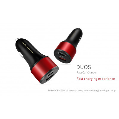 NILLKIN Fast DUOS 63w PD+USB QuickCharge 3.0 Car charger